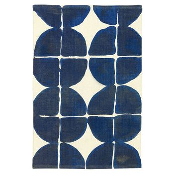 Dot-Grid Printed Cotton Mat